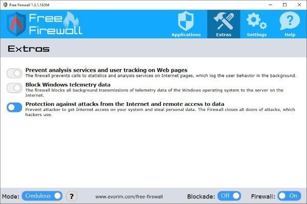 Free Firewall es una solución completa de firewall para PC con Windows