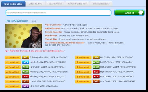 Video Grabber: Free Online Video Downloader and Converter
