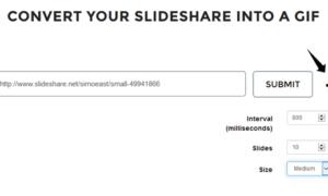 GIFDeck le permite convertir una presentación SlideShare en un GIF