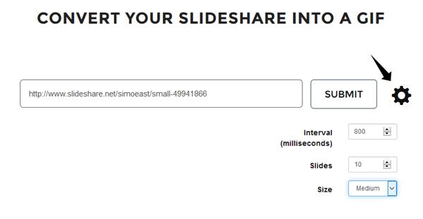 GIFDeck le permite convertir una presentación SlideShare en un GIF 14