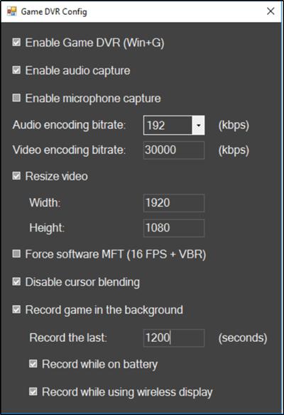 DVR de juegos: Este PC no cumple con los requisitos de hardware para la grabación de clips. 2