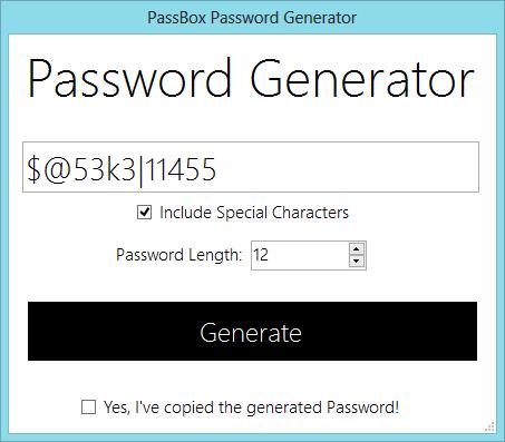 PassBox : Gestor y Generador de contraseñas gratuito para Windows 10/8/7 5