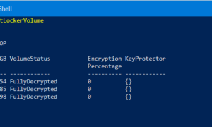 Comprobar el estado del Cifrado de unidad BitLocker para unidad mediante el símbolo del sistema o PowerShell