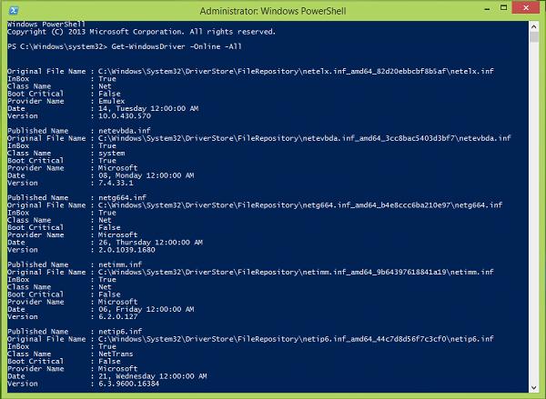 Cómo obtener la lista y los detalles de los controladores instalados con Windows PowerShell