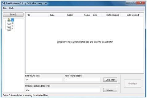FreeUndelete: Software gratuito de recuperación de datos portátil para Windows 8 1