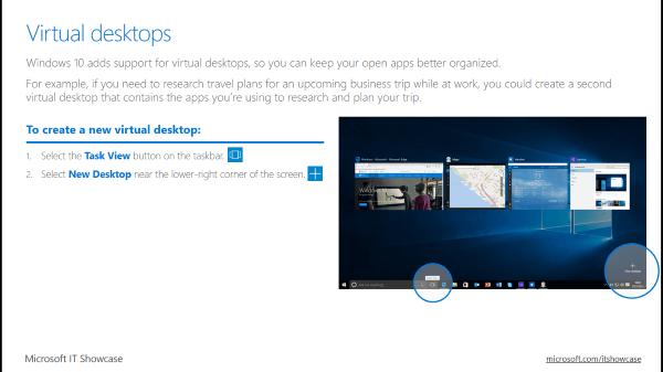 Conozca la Guía para empleados de Windows 10 de Microsoft