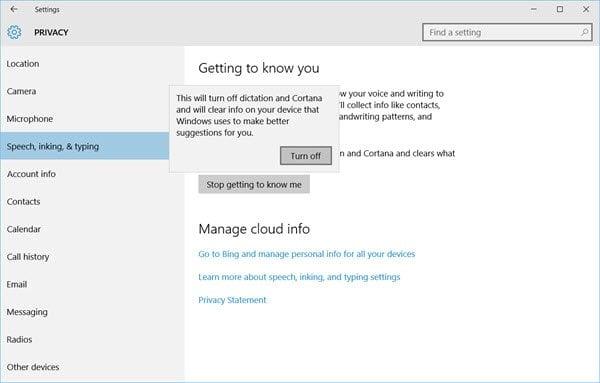 Impedir que Windows 10 te conozca