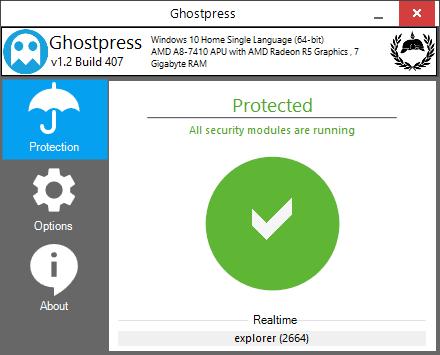 Ghostpress: Software anti-keylogger gratuito para Windows PC 1