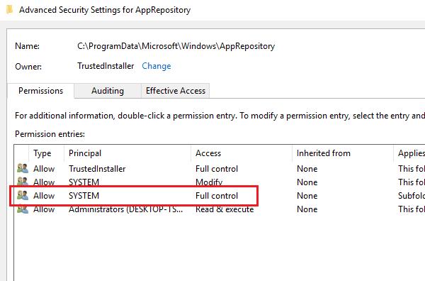 Corregir error de Windows 10 Store 0x80073CF9
