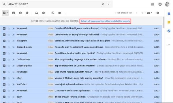 Demasiados mensajes para descargar un mensaje de error en Gmail. 2