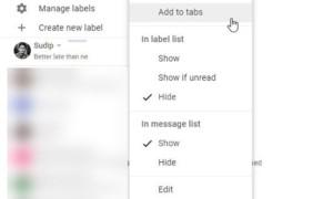 Las pestañas de Gmail convierten etiquetas en pestañas en Gmail.