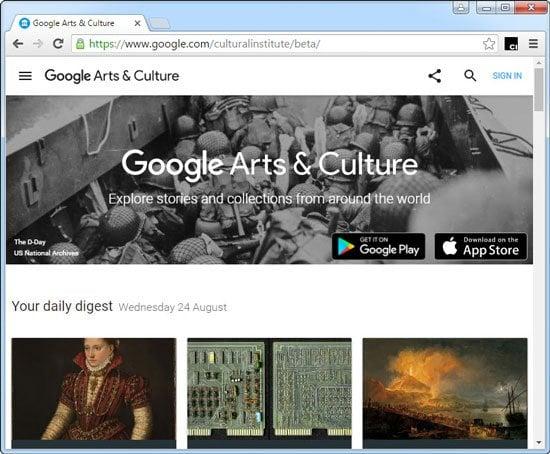 Explora el Instituto Cultural de Google con la extensión Google Art Project Chrome