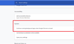 Impedir que Google Chrome se ejecute en segundo plano