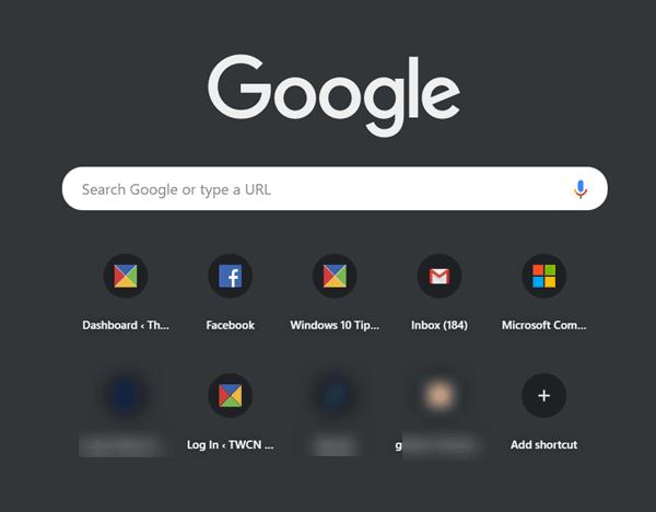Cómo inhabilitar o habilitar el modo oscuro en Google Chrome en Windows 10
