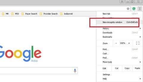 Cómo ejecutar el navegador Chrome en modo incógnito o modo seguro 2