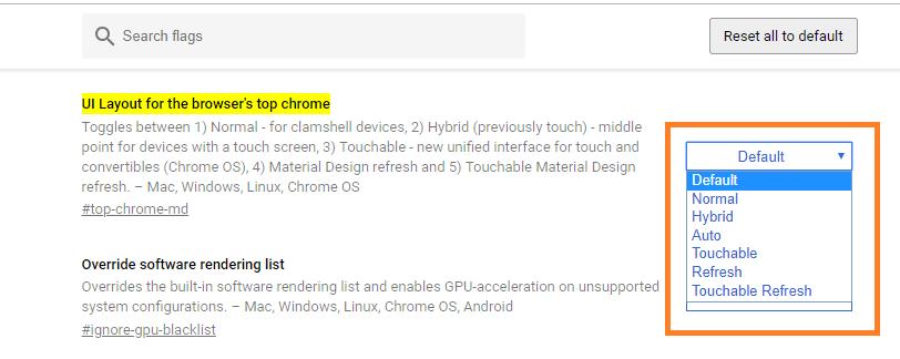 Cómo habilitar la nueva interfaz de usuario de Material Design en el navegador de Google Chrome