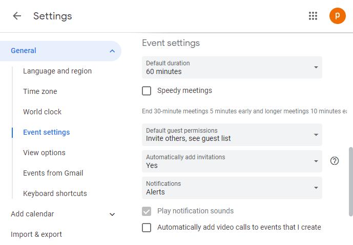 Cómo desactivar o cambiar Notificaciones para Google Calendar