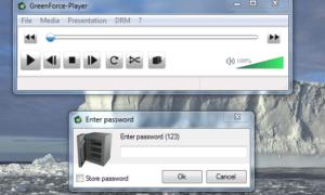 GreenForce-Player: Cifrar los medios con una contraseña; incrustarlos con un reproductor de medios portátil
