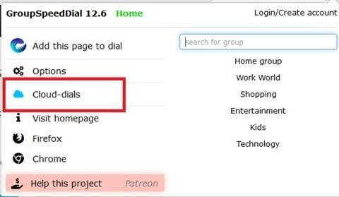 Marcación rápida de grupo para Firefox: Mantenga los sitios de Internet más importantes al alcance de la mano