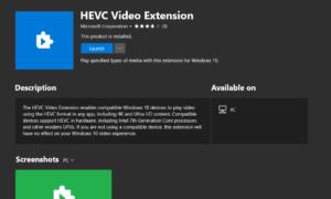 Cómo reproducir vídeos codificados HEVC en Windows 10 ahora usando HEVC Video Extension