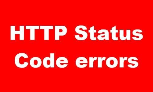 ¿Qué significan los errores comunes de código de estado HTTP?