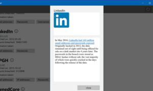 La aplicación hackeada para Windows 10 comprobará si alguna de sus cuentas en línea ha sido comprometida.