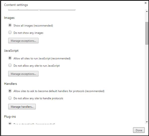 Habilitar o deshabilitar los Enlaces Especiales o las peticiones del Gestor del Sitio en Chrome 3