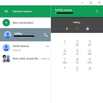 Uso de la extensión Google Hangouts Chrome en su Windows 10/8/7