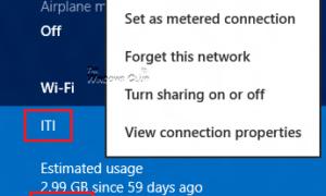 Mostrar u ocultar el uso de datos para redes inalámbricas en Windows 8