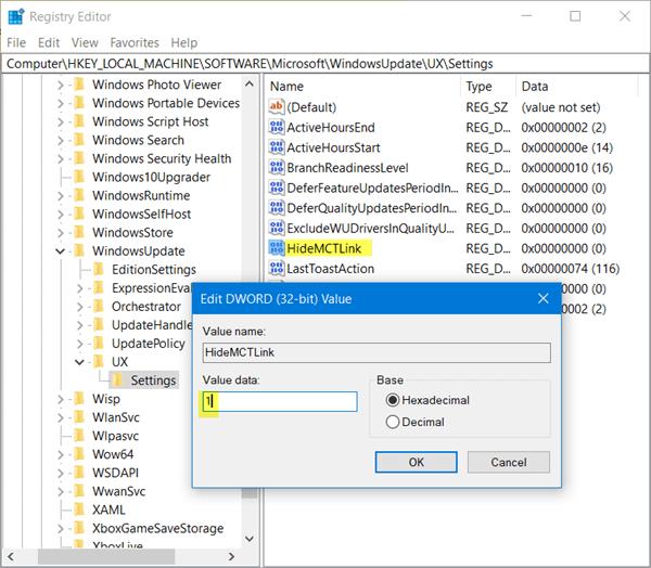 Cómo deshabilitar el aviso de Windows Upgrade en Windows Update