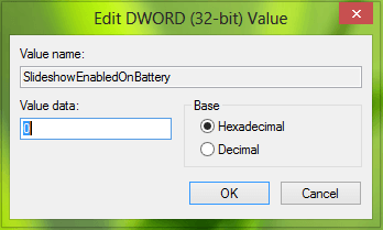 Cómo desactivar la función Bloquear presentación de diapositivas de la pantalla cuando está en la batería en Windows 8.1
