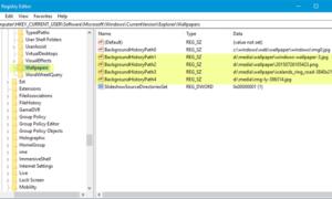 Cómo quitar el Historial de fondos de pantalla en Windows 10