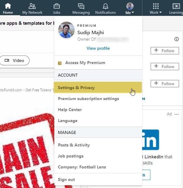 Cómo descargar LinkedIn Data usando LinkedIn Data Export Tool 1