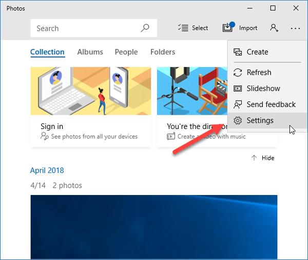 Cómo activar el modo oscuro en la aplicación Fotos en Windows 10 1