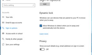 Cómo usar el Bloqueo Dinámico en Windows 10