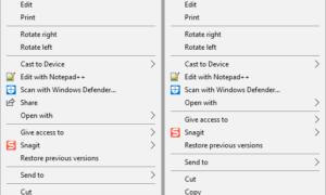 Cómo quitar el elemento Compartir del menú contextual del botón derecho del ratón en Windows 10