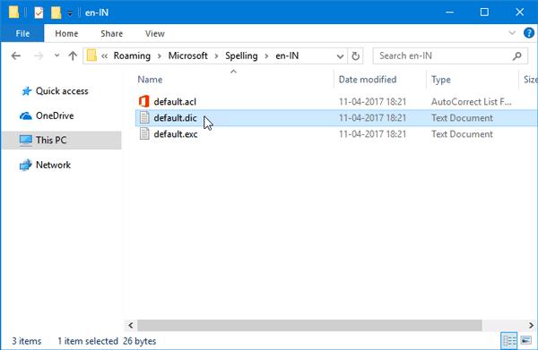 Cómo quitar palabras del diccionario de corrección ortográfica en Windows 10