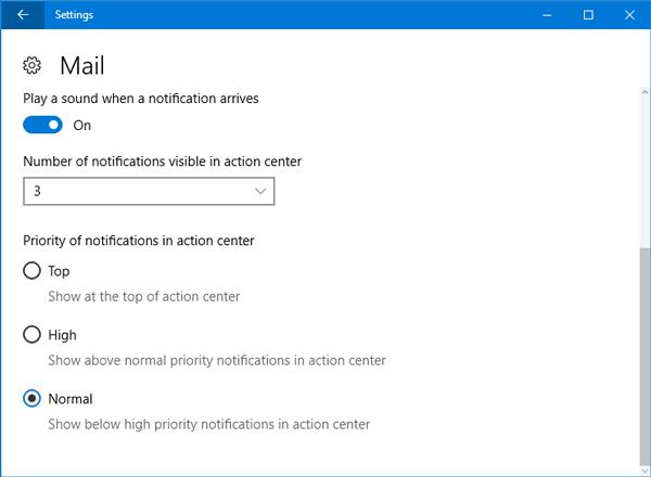 Cómo establecer la prioridad de las notificaciones en el Centro de actividades de Windows 10 2