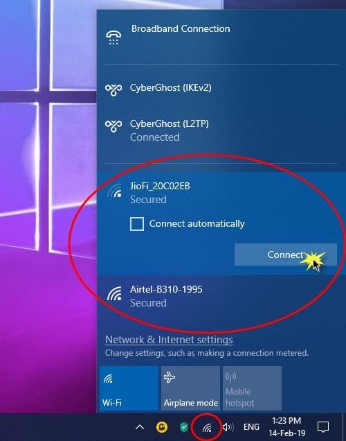 Cómo configurar una conexión a Internet en Windows 10 1