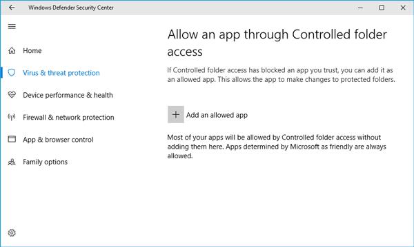 Cómo habilitar y usar el acceso controlado a las carpetas en Windows 10