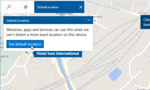 Cómo usar aplicaciones basadas en Ubicación sin habilitar el Servicio de Ubicación en Windows 10