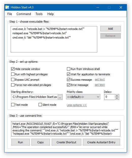 Cómo ejecutar archivos por lotes de forma silenciosa en Windows 10