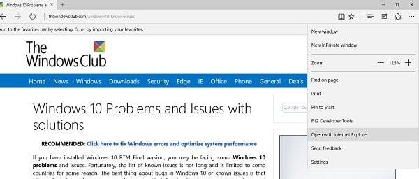 Configuración de privacidad en el explorador Edge en Windows 10