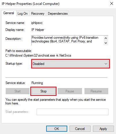 Puede haber un problema con el controlador del adaptador Ethernet/Wi-Fi.