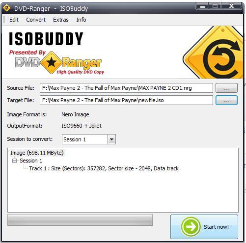 ISOBuddy: Convertir y grabar cualquier imagen de disco a ISO 1