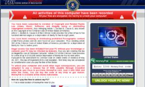 FBI Ransomware: Los chantajes del FBI - Pague por la eliminación de sus antecedentes penales
