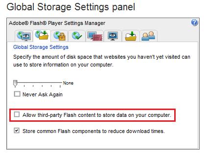 Restringir y desactivar las cookies de Adobe Flash en su equipo con Windows