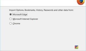Importar marcadores a Firefox, desde Edge, IE, Chrome