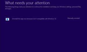 Desinstala esta aplicación ahora porque no es compatible con Windows 10