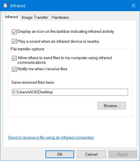 Infrarrojos en Windows 10 3